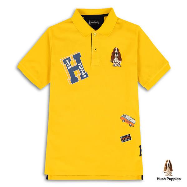 Hush Puppies  POLO衫 男裝多樣化趣味圖騰印繡花POLO衫
