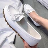 豆豆鞋 豆豆鞋女百搭2020春秋新款平底單鞋軟底一腳蹬孕婦媽媽護士工作夏【快速出貨八折】