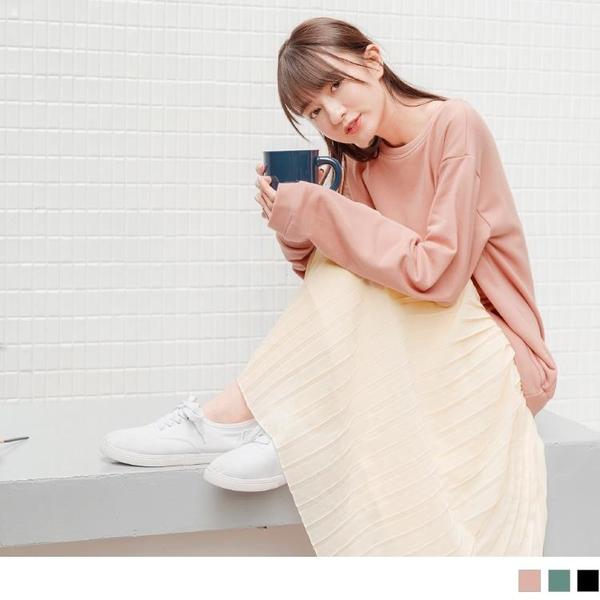 《DA7146-》假兩件.柔美百褶雪紡拼接棉質長洋裝 OB嚴選
