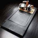 茶盤天然石頭茶盤電磁爐一體整塊石材茶海家用小茶臺