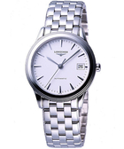 【滿額禮電影票】LONGINES 浪琴 典藏系列典藏機械腕錶/手錶-白 L47744126