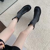 中筒靴女 長筒靴女不過膝新款秋季馬丁厚底長靴mona同款英倫風騎士短靴