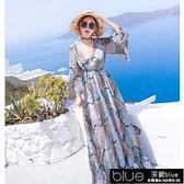 沙灘裙女夏2020新款顯瘦海邊度假雪紡洋裝波西米亞海灘【全館免運】