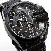 【萬年鐘錶】DIESEL 潮牌 霸氣 三眼 計時碼錶 日期顯示 IP鍍黑  超大錶徑 53mm DZ4283