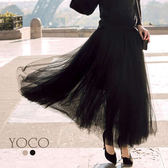 東京著衣【YOCO】安琪聯名法式時髦全長重磅紗裙-XS.S.M.L(172210)