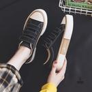 小白鞋魔術貼帆布鞋女百搭板鞋【愛物及屋】