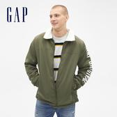 Gap男裝 仿羊羔毛內襯長袖外套515417-新軍綠色