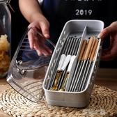 筷子筒筷子收納盒帶蓋筷籠家用筷子籠防塵瀝水筷子筒塑料廚房夏沫之戀