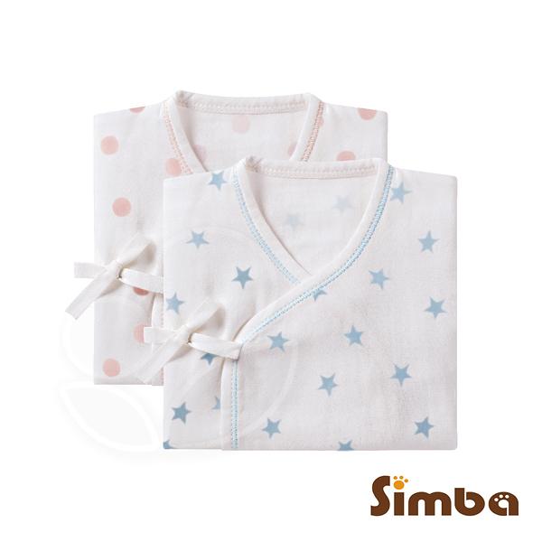 Simba 小獅王辛巴 極柔感印花紗布反袖肚衣(60cm)-好自藍/點粉粉【佳兒園婦幼館】