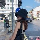 熱賣漁夫帽 帽子女黑色漁夫帽早春夏季顯臉小水桶帽潮防曬遮陽帽遮臉素顏盆帽 coco