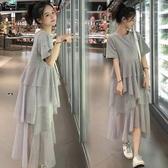 孕婦洋裝上衣t恤韓版時尚套裝孕婦裝裙子 伊鞋本鋪