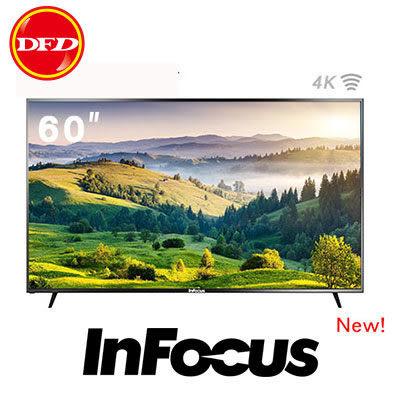 大降價 🐔 InFocus 鴻海 60吋 4K智慧連網液晶顯示器 WT-60CA612 輕薄 節能智慧背光 公司貨