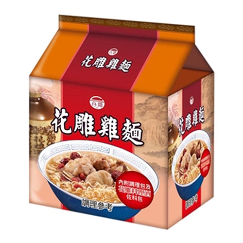 台酒花雕雞麵袋裝 200gx3【愛買】