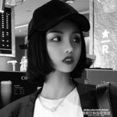 假髮帽假髮一體女短髮夏天時尚潮流帶假髮的帽子網紅波波頭全頭套式 萊俐亞