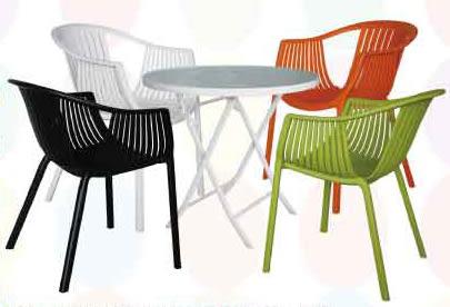 【南洋風休閒傢俱】圓/方/筷子腳桌/玻璃桌+莫內椅 塑料椅 窗簾餐椅 休閒餐椅 (551-1)
