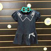 ~棒棒糖 ~(11508 )夏女童深藍色學院氣質款洋裝5 -15