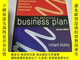 二手書博民逛書店THE罕見DEFINITIVE:BUSINESS PLAN(英文