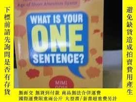 二手書博民逛書店WHAT罕見IS YOUR ONE SENTENCE?(Mimi