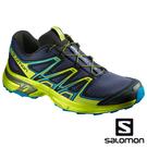 【SALOMON 法國】男 WINGS FLYTE 2 野跑鞋『正深藍/萊姆綠/蔚藍』399670健行鞋 多功能鞋
