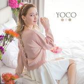 東京著衣【YOCO】多色優雅後開洞針織上衣-S.M.L(171592)
