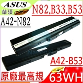 ASUS 電池(原廠八芯)B33,B33E,B53,B53AV,B53E,B53F,B53JB,B53S,B53VC,B53JE,B53JC,B53JR,A32-B53,A42-B53