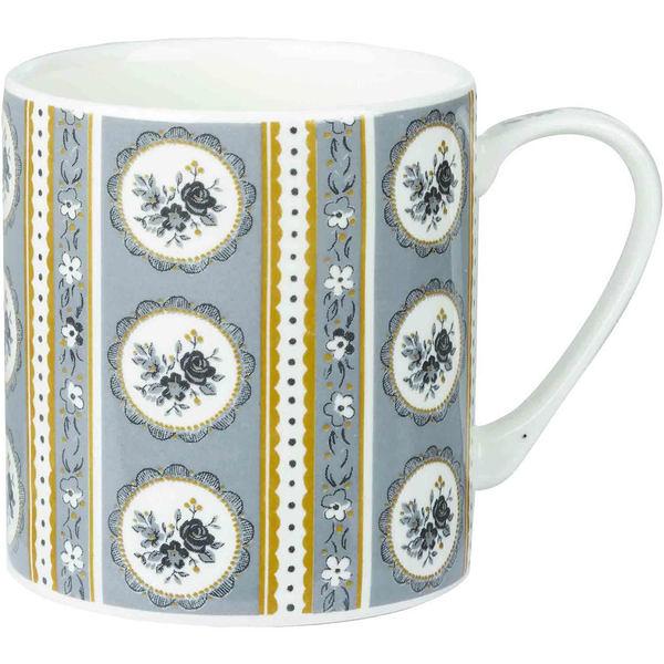 英國製造精瓷340ml馬克杯-Slate低調灰系列-Bouquet