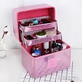 化妝包大容量多功能韓國大號簡約便攜多層化妝箱小號手提品收納盒 【韓語空間】