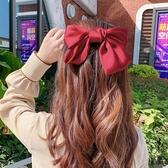韓版復古大蝴蝶結髮夾 仙女系少女彈簧夾頭飾【庫奇小舖】