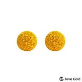 Jove gold 漾金飾 呢喃黃金耳環-大