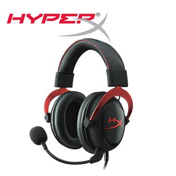 HyperX Cloud II 頭戴式耳機機 (酷炫紅) KHX-HSCP-RD