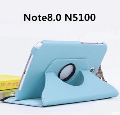 旋轉皮套 三星 Note 8.0 GT-N5100 平板皮套 商務 360°旋轉 防摔 多角度支架 N5110 荔枝紋 保護套