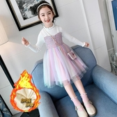女童毛衣裙新款洋氣秋冬公主連衣裙秋裝兒童小香風韓版長袖裙子女 怦然新品