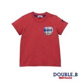 DOUBLE_B 口袋短袖T恤(紅)