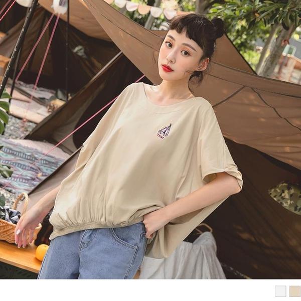 《KG1167-》美國棉.露營刺繡飛鼠連袖寬鬆上衣 OB嚴選