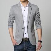 季薄款休閒西服男修身帥氣青年韓版小西裝男士外套潮單上衣