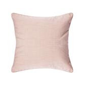 HOLA 素色拼色滾邊抱枕50x50cm 淺粉米
