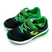 LOTTO 雙密度避震跑鞋 POWER UP 雙色動力系列 黑綠 5860 大童