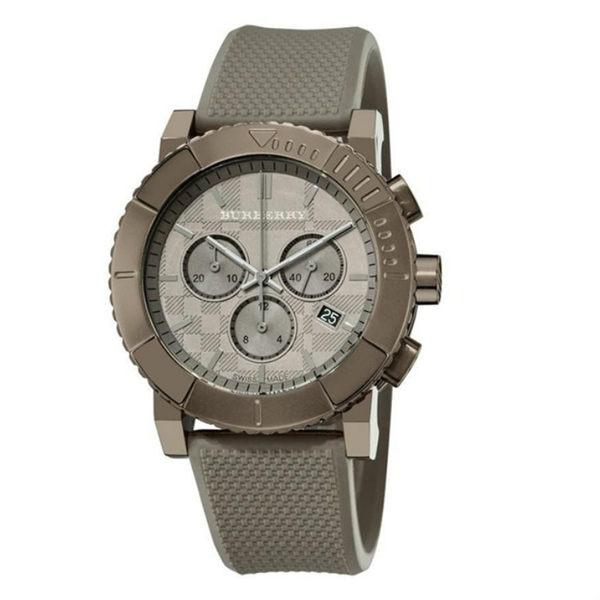 BURBERRY全新潮款三眼計時男仕日曆手錶 BU2302