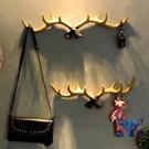 鑰匙掛鉤壁掛創意玄關掛衣鉤墻壁上鹿角裝飾置物架【古怪舍】