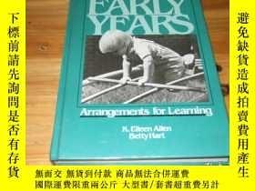 二手書博民逛書店the罕見early years arrangements fo