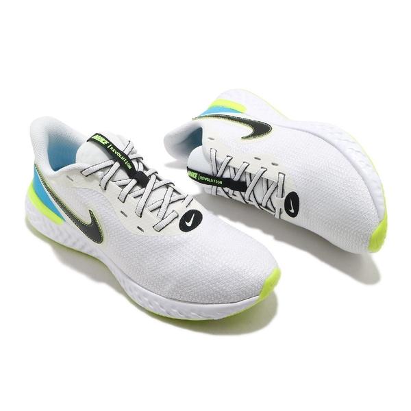 Nike 慢跑鞋 Revolution 5 EXT 白 黑 藍 螢光黃 男鞋 運動鞋 【ACS】 CZ8591-102