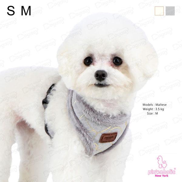 紐約《Pinkaholic》金葉胸背A組 S/M號 超完美組合! 犬胸背帶 項圈 拉繩