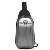 男女胸包PC防水單肩包斜跨包小包胸前包潮流街頭硬殼包騎士休閒包