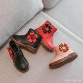 中大尺碼兒童雪靴 女童靴子公主鞋冬季新款韓版女童鞋短靴皮靴兒童棉鞋LB6941【Rose中大尺碼】