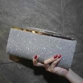 晚宴包 鑽石包包鑲鑽宴會包女包2020新款水鑽手拿包手抓包伴娘新娘手提包