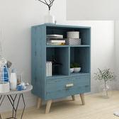 床頭櫃 簡易床頭櫃簡約現代北歐收納小櫃子組裝儲物櫃宿舍臥室組裝床邊櫃【美物居家館】