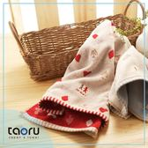 日本有機棉毛巾/ 家用長毛巾/ 今治毛巾 : 浪漫滿屋_紅色 34*80 cm (taoru 日本毛巾)