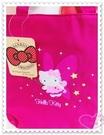 ♥小花花日本精品♥ Hello Kitty 提袋 手提袋 小提袋 便當袋 小物袋 桃紅色 仙女 星星 10024201
