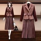 兩件式 洋裝2020冬新款大碼女裝L-4...