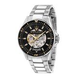 MASERATI 瑪莎拉蒂 黑面三針鏤空機械腕錶44mm(R8823140002)